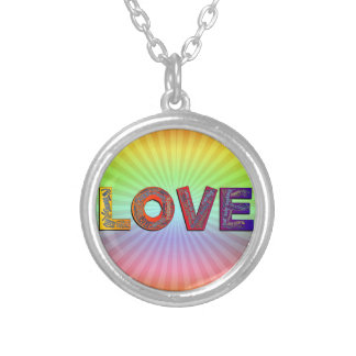 LOVE WORDS SILVER PLATED NECKLACE