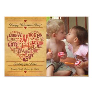 Love Words Valentine's Day Card 13 Cm X 18 Cm Invitation Card