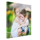 LOVE Writing Custom Photo Canvas Gallery Wrapped Canvas