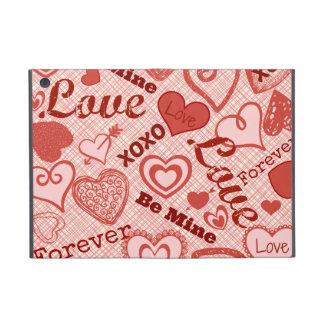 Love XOXO Be Mine Forever Hearts Valentine's Day Case For iPad Mini