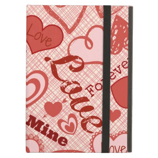 Love XOXO Be Mine Forever Hearts Valentine's Day iPad Covers