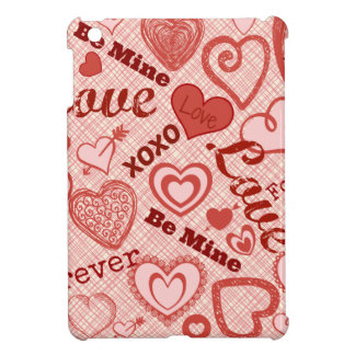 Love XOXO Be Mine Forever Hearts Valentine's Day Case For The iPad Mini