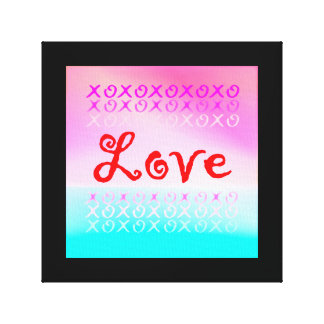 Love xoxo canvas print