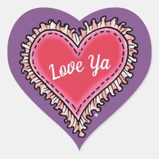 """Love Ya"" Heart-Shaped Stickers"