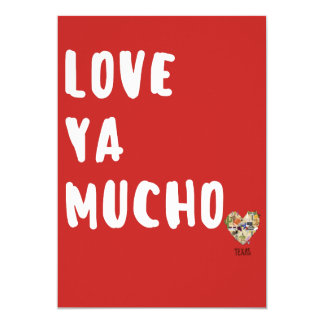 Love Ya Mucho Valentine's Card Texas