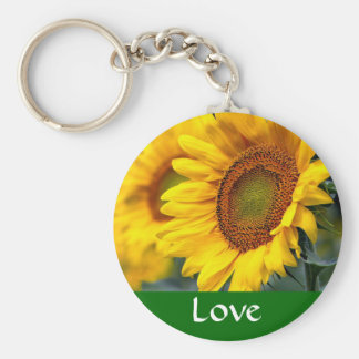 Love Yellow Sunflower  Budget Keychain