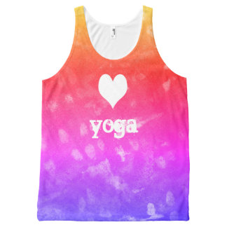 love yoga All-Over print singlet