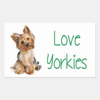 Love Yorkies Yorkshire Terrier Puppy Dog Sticker