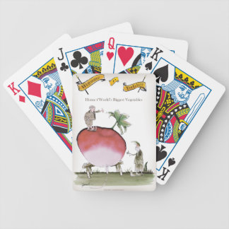 Love Yorkshire big radish Bicycle Playing Cards
