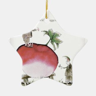 Love Yorkshire big radish Ceramic Ornament