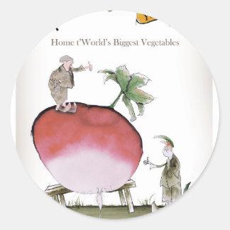 Love Yorkshire big radish Classic Round Sticker
