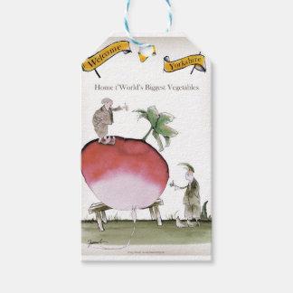 Love Yorkshire big radish Gift Tags