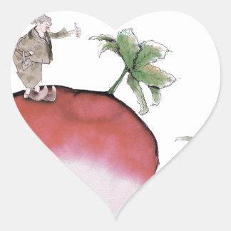 Love Yorkshire big radish Heart Sticker
