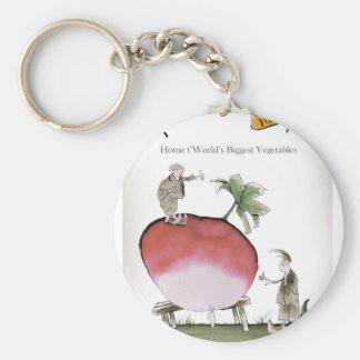 Love Yorkshire big radish Key Ring