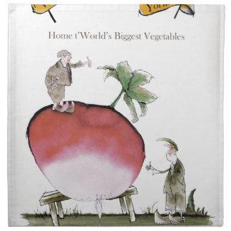Love Yorkshire big radish Napkin