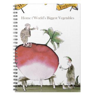 Love Yorkshire big radish Notebook