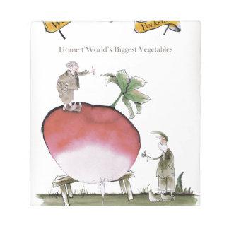 Love Yorkshire big radish Notepad