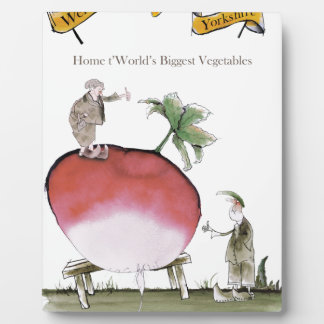 Love Yorkshire big radish Plaque