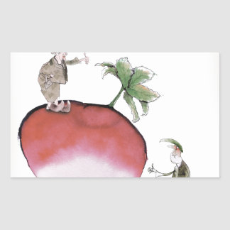 Love Yorkshire big radish Rectangular Sticker