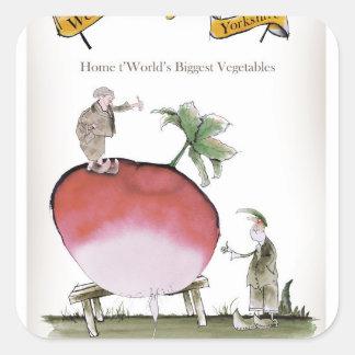 Love Yorkshire big radish Square Sticker