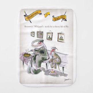 love yorkshire borrowing whippets teeth burp cloth