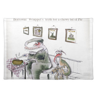 love yorkshire borrowing whippets teeth placemat