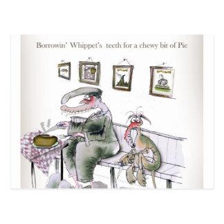 love yorkshire borrowing whippets teeth postcard
