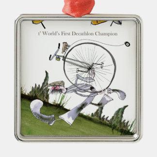 love yorkshire decathlons metal ornament