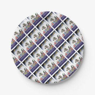 love yorkshire drop o'rain paper plate