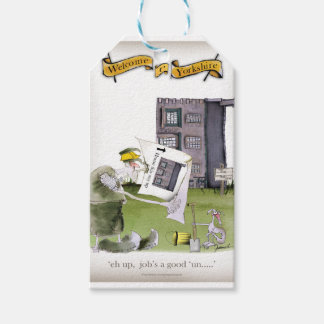 love yorkshire 'ey up, jobs a good 'un' gift tags