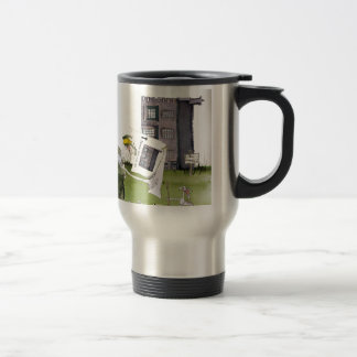 love yorkshire 'ey up, jobs a good 'un' travel mug