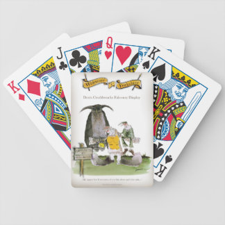 love yorkshire falconry display bicycle playing cards