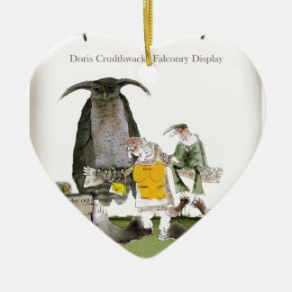 love yorkshire falconry display ceramic ornament