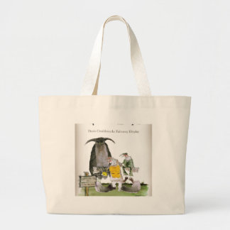 love yorkshire falconry display large tote bag