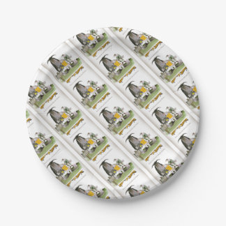 love yorkshire falconry display paper plate