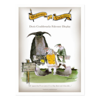 love yorkshire falconry display postcard