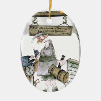 love yorkshire flat fish ceramic ornament