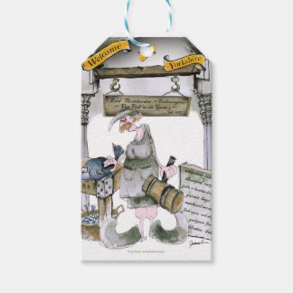 love yorkshire flat fish gift tags