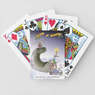 love yorkshire happy christmas bicycle playing cards