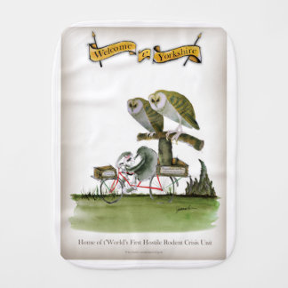 love yorkshire hostile rodent unit burp cloth