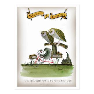 love yorkshire hostile rodent unit postcard