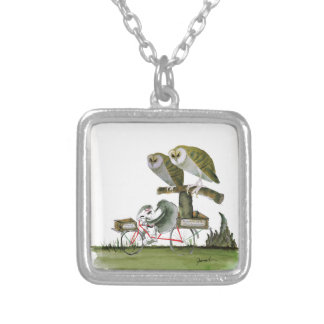 love yorkshire hostile rodent unit silver plated necklace