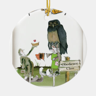 love yorkshire obedience class ceramic ornament