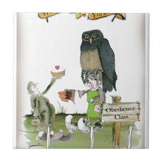 love yorkshire obedience class ceramic tile