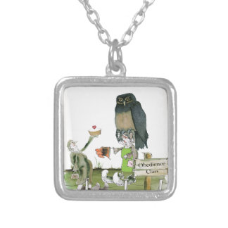love yorkshire obedience class silver plated necklace