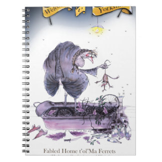 love yorkshire ol' ma ferret notebook