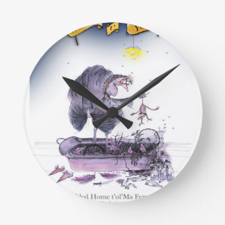 love yorkshire ol' ma ferret round clock