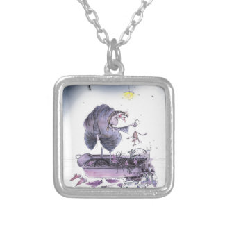 love yorkshire ol' ma ferret silver plated necklace