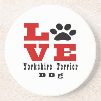 Love Yorkshire Terrier Dog Designes Beverage Coasters