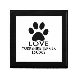 LOVE YORKSHIRE TERRIER DOG DESIGNS GIFT BOX